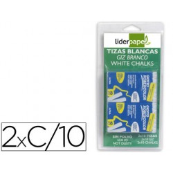 Tiza blanca antipolvo robercolor -blister de 2 cajas