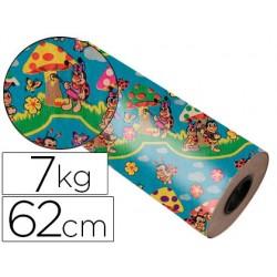 Papel fantasia kraft 4313/62 bobina 62 cm. 7 kg