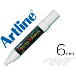 Rotulador artline poster marker epp-6-bla punta redonda 6 mm color blanco