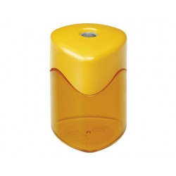 Sacapuntas m+r metalico 1 uso con deposito colores surtidos