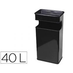 Cenicero papelera metalico 406 negro -medida 67x31x19 cm