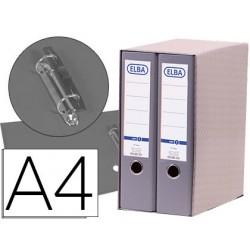 Modulo elba 2 archivadores de palanca din a4 con rado 2 anillas gris lomo de 80 mm