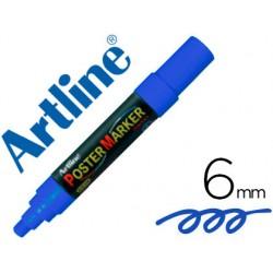 Rotulador artline poster marker epp-6-azu punta redonda 6mm color azul