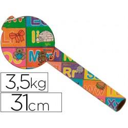 Papel fantasia kraft 4317 havana motivo infantil bobina 31 cm 3,5 kg