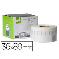 Etiqueta adhesiva q-connect kf18538 compatible dymo 99013 tamaño 36x89 mm caja con 260 etiquetas