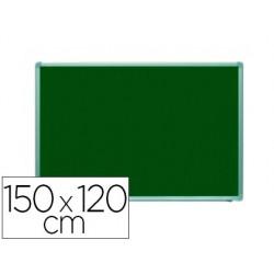 Pizarra verde rocada acero vitrificado magnetico marco aluminio y cantoneras pvc 150x120 cm incluye bandeja