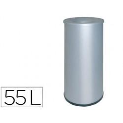Papelera metalica ignifuga115 con aro inferior pvc diametro 27cm altura 65cm capacidad 55l