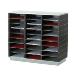 Mueble auxiliar fast-paperflow 27 casillas plastico-metal 75x70x32,8 cm sk-133s1.35 y sk-1br.35
