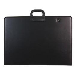 Cartera portadocumentos q-connect negra con asa con cremallera din a1 594x841 mm