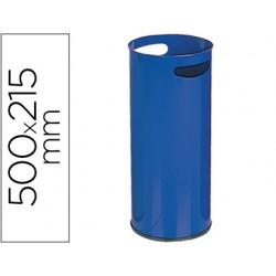 Paraguero metalico 306 azul medida 50x21.5 cm