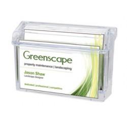 Portatarjeta de visita archivo 2000 capacidad maxima 50 tarjetas en plastico transparente 38x108x73 mm
