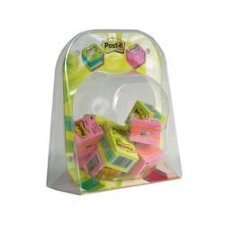 Expositor 3m minni bubble minicubos post-it 16 minicubos-8 limon + 8 rosas-