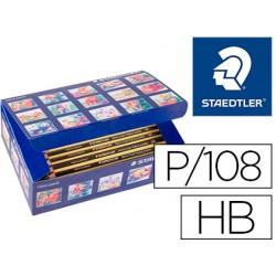 Lapices de grafito staedtler triplus jumbo hb caja de 108 unidades