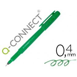 Rotulador q-connect punta de fibra fine liner verde 0.4 mm