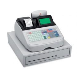 Registradora olivetti ecr 8220 s cajon grande caja profesional teclado plano conectable pc y lector codigo