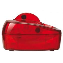 Portaclips q-connect con rueda magnetica giratoria plastico rojo