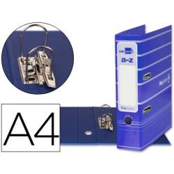 Archivador de palanca liderpapel a4 filing system forrado con rado lomo 75mm azul compresor metalico