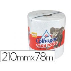 Papel de cocina colhogar jumbo 42g/m2 ancho 210mm largo 78m