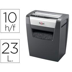 Destructora de documentos rexel momentum x410 capacidad de corte 10 hojas destruye grapas y clips papelera 23 l