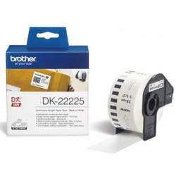 Cinta de papel continuo brother dk-22225 para impresoras brother ql -38mmx30,48mts-