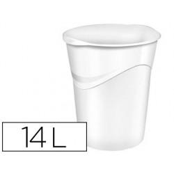 Papelera plastico cep blanco 14 litros