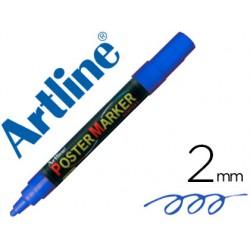 Rotulador artline poster marker epp-4-azu punta redonda 2 mm color azul