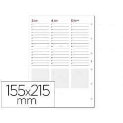Recambio agenda finocam 1000 anualidad semana a la vista 155x215 mm