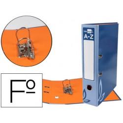 Archivador de palanca liderpapel folio forrado con rado lomo 75mm azul compresor metalico