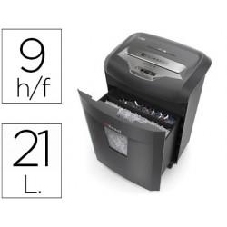 Destructora de documentos rexel rem 820 microcorte capacidad de corte 9 hojas destruye grapas clips y cd