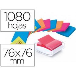 Soporte bloc de notas adhesivas quita y pon post-it super sticky z notes color blanco con 12 bloc 76x76 mm