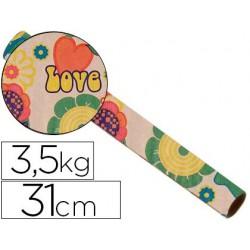 Papel fanstasia kraft 4341 havana todo el año bobina 31 cm 3,5 kg