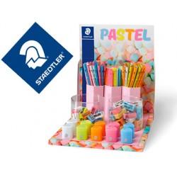 Expositor staedtler linea pastel gomas lapices reglas y sacapuntas 200 unidades surtidas 280x300x210 mm