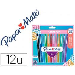 Rotulador paper mate flair original punta fibra candy popblister de 12 unidades coloressurtidos