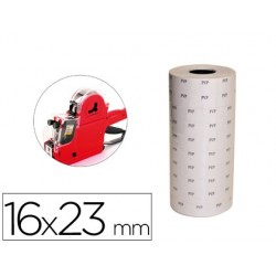 Etiquetas q-connect blanca 16 x 23 mm pvp rollo 700 etiquetas para etiquetadora