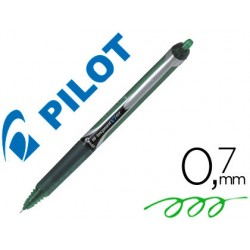 Rotulador pilot punta aguja v-7 retractil verde 0.7 mm