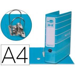 Archivador de palanca liderpap el a4 filing system forrado con rado lomo 75mm celeste compresor metalico