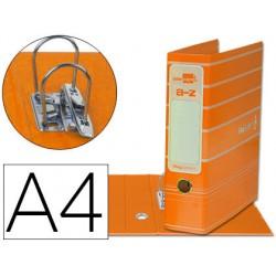Archivador de palanca liderpap el a4 filing system forrado con rado lomo 75mm naranja compresor metalico
