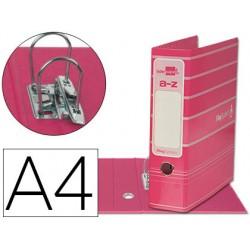 Archivador de palanca liderpap el a4 filing system forrado con rado lomo 75mm rosa compresor metalico