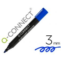 Rotulador q-connect marcador para bloc congreso azul punta redonda 3.0 mm