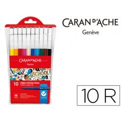 Rotulador caran d'ache linea escolar acuarelable bolsa de plastico de 10 colores
