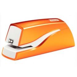 Grapadora petrus electrica e-310 wow naranja metalizado capacidad 12 hojas usa grapa nº 10