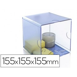 Archicubo archivo 2000 hueco organizador modular plastico 155x155x155xmm incluye clips de sujecion