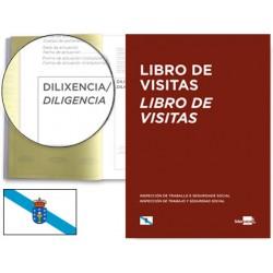 Libro liderpapel din a4 100 h registro de visitas de la inspeccion de trabajo gallego