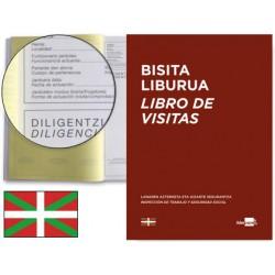 Libro liderpapel din a4 100 h registro de visitas de la inspeccion de trabajo euskera
