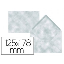 Sobre liderpapel b6 azul pergamino 125x178 mm 80gr pack de 15 unidades