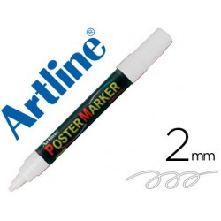 Rotulador artline poster marker epp-4-bla punta redonda 2 mm color blanco