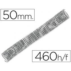 Espiral metalico q-connect 56 4:1 50 mm 1,2mm caja de 25 unidades