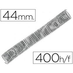 Espiral metalico q-connect 56 4:1 44mm 1,2mm caja de 25 unidades