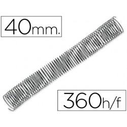 Espiral metalico q-connect 56 4:1 40mm 1,2mm caja de 25 unidades