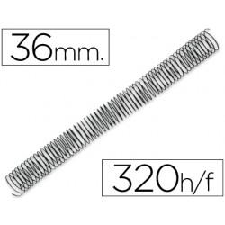 Espiral metalico q-connect 56 4:1 36mm 1,2mm caja de 25 unidades
